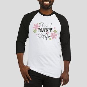 Navy Wife [fl camo] Baseball Jersey